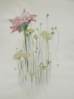 Bouquet watercolor pencils.